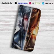 Metal Gear Rising Revengeance Custom Leather Wallet iPhone 4/4S 5S/C 6/6S Plus 7| Samsung Galaxy S4 S5 S6 S7 Note 3 4 5| LG G2 G3 G4| Motorola Moto X X2 Nexus 6| Sony Z3 Z4 Mini| HTC ONE X M7 M8 M9 Case