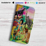 Mowgli and His Friends Custom Leather Wallet iPhone 4/4S 5S/C 6/6S Plus 7| Samsung Galaxy S4 S5 S6 S7 Note 3 4 5| LG G2 G3 G4| Motorola Moto X X2 Nexus 6| Sony Z3 Z4 Mini| HTC ONE X M7 M8 M9 Case