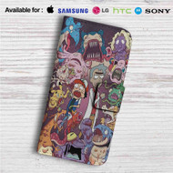 Rick and Morty with Pokemon Custom Leather Wallet iPhone 4/4S 5S/C 6/6S Plus 7| Samsung Galaxy S4 S5 S6 S7 Note 3 4 5| LG G2 G3 G4| Motorola Moto X X2 Nexus 6| Sony Z3 Z4 Mini| HTC ONE X M7 M8 M9 Case