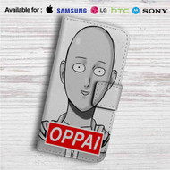 Saitama Sensei One Punch Man Oppai Custom Leather Wallet iPhone 4/4S 5S/C 6/6S Plus 7| Samsung Galaxy S4 S5 S6 S7 Note 3 4 5| LG G2 G3 G4| Motorola Moto X X2 Nexus 6| Sony Z3 Z4 Mini| HTC ONE X M7 M8 M9 Case