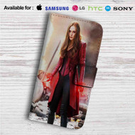 Scarlet Witch from Captain America Civil War Custom Leather Wallet iPhone 4/4S 5S/C 6/6S Plus 7  Samsung Galaxy S4 S5 S6 S7 Note 3 4 5  LG G2 G3 G4  Motorola Moto X X2 Nexus 6  Sony Z3 Z4 Mini  HTC ONE X M7 M8 M9 Case