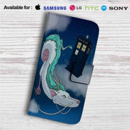 Spirited Away Doctor Who Police Box Custom Leather Wallet iPhone 4/4S 5S/C 6/6S Plus 7| Samsung Galaxy S4 S5 S6 S7 Note 3 4 5| LG G2 G3 G4| Motorola Moto X X2 Nexus 6| Sony Z3 Z4 Mini| HTC ONE X M7 M8 M9 Case