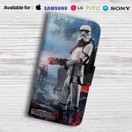Star Wars Battlefront Custom Leather Wallet iPhone 4/4S 5S/C 6/6S Plus 7| Samsung Galaxy S4 S5 S6 S7 Note 3 4 5| LG G2 G3 G4| Motorola Moto X X2 Nexus 6| Sony Z3 Z4 Mini| HTC ONE X M7 M8 M9 Case