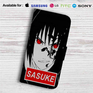 Uchiha Sasuke Face Naruto Shippuden Custom Leather Wallet iPhone 4/4S 5S/C 6/6S Plus 7| Samsung Galaxy S4 S5 S6 S7 Note 3 4 5| LG G2 G3 G4| Motorola Moto X X2 Nexus 6| Sony Z3 Z4 Mini| HTC ONE X M7 M8 M9 Case