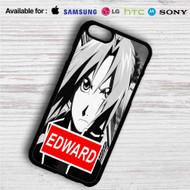 Edward Elric Fullmetal Alchemist Brotehrhood iPhone 4/4S 5 S/C/SE 6/6S Plus 7| Samsung Galaxy S4 S5 S6 S7 NOTE 3 4 5| LG G2 G3 G4| MOTOROLA MOTO X X2 NEXUS 6| SONY Z3 Z4 MINI| HTC ONE X M7 M8 M9 M8 MINI CASE