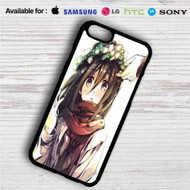 Mikasa Attack On Titan iPhone 4/4S 5 S/C/SE 6/6S Plus 7| Samsung Galaxy S4 S5 S6 S7 NOTE 3 4 5| LG G2 G3 G4| MOTOROLA MOTO X X2 NEXUS 6| SONY Z3 Z4 MINI| HTC ONE X M7 M8 M9 M8 MINI CASE