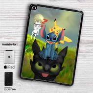"""Pikachu Stitch and Toothless iPad 2 3 4 iPad Mini 1 2 3 4 iPad Air 1 2   Samsung Galaxy Tab 10.1"""" Tab 2 7"""" Tab 3 7"""" Tab 3 8"""" Tab 4 7"""" Case"""