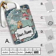 Alice in Wonderland Disney Custom Leather Luggage Tag