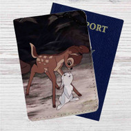 Bambi and Thumper Disney Custom Leather Passport Wallet Case Cover