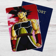 Bardock Father of Goku Custom Leather Passport Wallet Case Cover