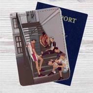 Bokuto and Kuroo Haikyuu Custom Leather Passport Wallet Case Cover