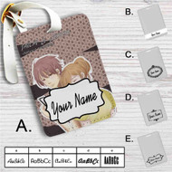 Chihayafuru Chihaya and Taichi Custom Leather Luggage Tag