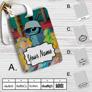 Disney Stitch Like Army Custom Leather Luggage Tag