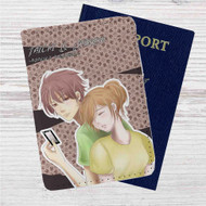 Chihayafuru Chihaya and Taichi Custom Leather Passport Wallet Case Cover