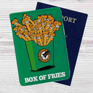 Futurama Fry Box of Fries Custom Leather Passport Wallet Case Cover
