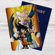 Goten and Trunks Gotenks Super Saiyan Custom Leather Passport Wallet Case Cover