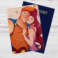 Hercules and Megara Disney Custom Leather Passport Wallet Case Cover