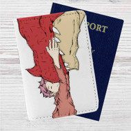 Igneel and Natsu Fairy Tail Custom Leather Passport Wallet Case Cover