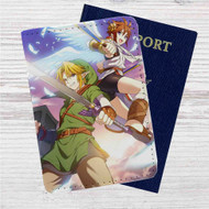 Link and Pit The Legend of Zelda Custom Leather Passport Wallet Case Cover