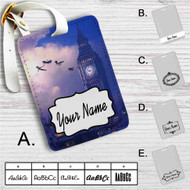 Peter Pan Big Ben Disney Custom Leather Luggage Tag