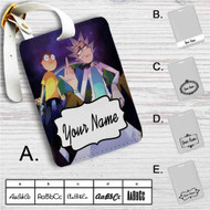 Rick and Morty Middle Finger Custom Leather Luggage Tag