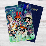 Power Puff Girls Dexter Laboratory Custom Leather Passport Wallet Case Cover