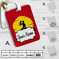 The Simpsons The Lion King Custom Leather Luggage Tag