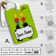 The Simpsons' Shadows Custom Leather Luggage Tag