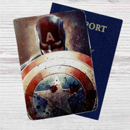 Steve Rogers Captain America Custom Leather Passport Wallet Case Cover