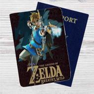The Legend of Zelda Breath of the Wild Custom Leather Passport Wallet Case Cover