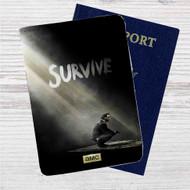 The Walking Dead Season 5 Rick Grimes Custom Leather Passport Wallet Case Cover