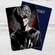 Tokyo Ghoul Kaneki Ken Custom Leather Passport Wallet Case Cover