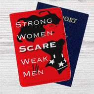 Wonder Woman Strong Quotes Custom Leather Passport Wallet Case Cover