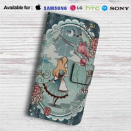 Alice in Wonderland Disney Custom Leather Wallet iPhone 4/4S 5S/C 6/6S Plus 7| Samsung Galaxy S4 S5 S6 S7 Note 3 4 5| LG G2 G3 G4| Motorola Moto X X2 Nexus 6| Sony Z3 Z4 Mini| HTC ONE X M7 M8 M9 Case