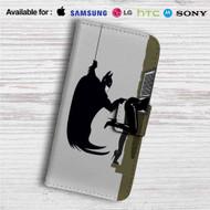Batman I'm Not Touching You Custom Leather Wallet iPhone 4/4S 5S/C 6/6S Plus 7| Samsung Galaxy S4 S5 S6 S7 Note 3 4 5| LG G2 G3 G4| Motorola Moto X X2 Nexus 6| Sony Z3 Z4 Mini| HTC ONE X M7 M8 M9 Case