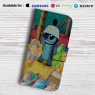 Disney Stitch Like Army Custom Leather Wallet iPhone 4/4S 5S/C 6/6S Plus 7| Samsung Galaxy S4 S5 S6 S7 Note 3 4 5| LG G2 G3 G4| Motorola Moto X X2 Nexus 6| Sony Z3 Z4 Mini| HTC ONE X M7 M8 M9 Case