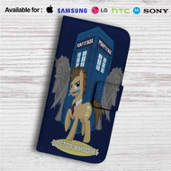Doctor Whooves My Little Pony Custom Leather Wallet iPhone 4/4S 5S/C 6/6S Plus 7| Samsung Galaxy S4 S5 S6 S7 Note 3 4 5| LG G2 G3 G4| Motorola Moto X X2 Nexus 6| Sony Z3 Z4 Mini| HTC ONE X M7 M8 M9 Case