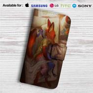 Nick Wilde and Judy Hopps Zootopia Sleeping Custom Leather Wallet iPhone 4/4S 5S/C 6/6S Plus 7| Samsung Galaxy S4 S5 S6 S7 Note 3 4 5| LG G2 G3 G4| Motorola Moto X X2 Nexus 6| Sony Z3 Z4 Mini| HTC ONE X M7 M8 M9 Case