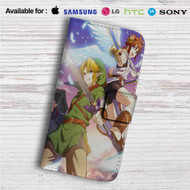 Link and Pit The Legend of Zelda Custom Leather Wallet iPhone 4/4S 5S/C 6/6S Plus 7| Samsung Galaxy S4 S5 S6 S7 Note 3 4 5| LG G2 G3 G4| Motorola Moto X X2 Nexus 6| Sony Z3 Z4 Mini| HTC ONE X M7 M8 M9 Case