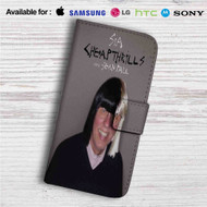 Sia Cheap Thrills Remix ft Nicky Jam Custom Leather Wallet iPhone 4/4S 5S/C 6/6S Plus 7| Samsung Galaxy S4 S5 S6 S7 Note 3 4 5| LG G2 G3 G4| Motorola Moto X X2 Nexus 6| Sony Z3 Z4 Mini| HTC ONE X M7 M8 M9 Case