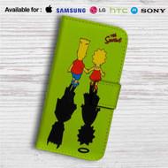 The Simpsons' Shadows Custom Leather Wallet iPhone 4/4S 5S/C 6/6S Plus 7| Samsung Galaxy S4 S5 S6 S7 Note 3 4 5| LG G2 G3 G4| Motorola Moto X X2 Nexus 6| Sony Z3 Z4 Mini| HTC ONE X M7 M8 M9 Case