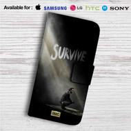 The Walking Dead Season 5 Rick Grimes Custom Leather Wallet iPhone 4/4S 5S/C 6/6S Plus 7| Samsung Galaxy S4 S5 S6 S7 Note 3 4 5| LG G2 G3 G4| Motorola Moto X X2 Nexus 6| Sony Z3 Z4 Mini| HTC ONE X M7 M8 M9 Case