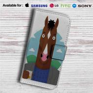 BoJack Horseman Drink Custom Leather Wallet iPhone 4/4S 5S/C 6/6S Plus 7| Samsung Galaxy S4 S5 S6 S7 Note 3 4 5| LG G2 G3 G4| Motorola Moto X X2 Nexus 6| Sony Z3 Z4 Mini| HTC ONE X M7 M8 M9 Case