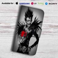 Death Note With Apple Custom Leather Wallet iPhone 4/4S 5S/C 6/6S Plus 7| Samsung Galaxy S4 S5 S6 S7 Note 3 4 5| LG G2 G3 G4| Motorola Moto X X2 Nexus 6| Sony Z3 Z4 Mini| HTC ONE X M7 M8 M9 Case
