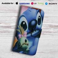 Disney Stitch Face Close Up Custom Leather Wallet iPhone 4/4S 5S/C 6/6S Plus 7| Samsung Galaxy S4 S5 S6 S7 Note 3 4 5| LG G2 G3 G4| Motorola Moto X X2 Nexus 6| Sony Z3 Z4 Mini| HTC ONE X M7 M8 M9 Case
