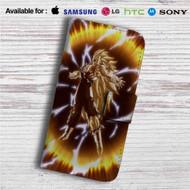 Goku Super Saiyan 3 Dragon Ball Z Custom Leather Wallet iPhone 4/4S 5S/C 6/6S Plus 7  Samsung Galaxy S4 S5 S6 S7 Note 3 4 5  LG G2 G3 G4  Motorola Moto X X2 Nexus 6  Sony Z3 Z4 Mini  HTC ONE X M7 M8 M9 Case