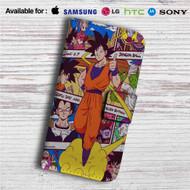 Goku With Kintoun Dragon Ball Z Custom Leather Wallet iPhone 4/4S 5S/C 6/6S Plus 7  Samsung Galaxy S4 S5 S6 S7 Note 3 4 5  LG G2 G3 G4  Motorola Moto X X2 Nexus 6  Sony Z3 Z4 Mini  HTC ONE X M7 M8 M9 Case