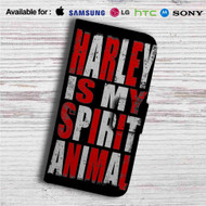 Harley Quinn is my Spirit Animal Custom Leather Wallet iPhone 4/4S 5S/C 6/6S Plus 7| Samsung Galaxy S4 S5 S6 S7 Note 3 4 5| LG G2 G3 G4| Motorola Moto X X2 Nexus 6| Sony Z3 Z4 Mini| HTC ONE X M7 M8 M9 Case