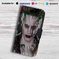 Joker Suicide Squad Custom Leather Wallet iPhone 4/4S 5S/C 6/6S Plus 7| Samsung Galaxy S4 S5 S6 S7 Note 3 4 5| LG G2 G3 G4| Motorola Moto X X2 Nexus 6| Sony Z3 Z4 Mini| HTC ONE X M7 M8 M9 Case