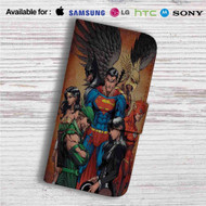 Justice League Identity Crisis Custom Leather Wallet iPhone 4/4S 5S/C 6/6S Plus 7| Samsung Galaxy S4 S5 S6 S7 Note 3 4 5| LG G2 G3 G4| Motorola Moto X X2 Nexus 6| Sony Z3 Z4 Mini| HTC ONE X M7 M8 M9 Case